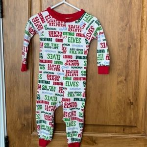 Christmas snap up onesie